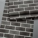 Wxl Retro 3D three-dimensional imitation brick brick wallpaper 32.8*1.73 (ft) (Color : Retro dark brown)