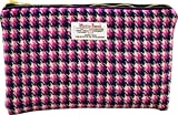 Vagabond Bags Harris Tweed Pink Large Cosmetic Bag Kulturtasche, 25 cm, (Pink Check)