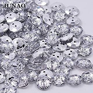 10pcs 15mm Sew On crystal Round Buttons Acrylic Diamante Rhinestone Crystal Gems Bling My Shoes Trademark UK00003085705 REF:Buttoncry1
