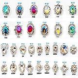 JuanYa 3D-Strassdekoration für Nägel, entzückende Diamant-Kristalle zum...