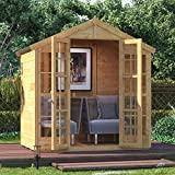 BillyOh 4x6 Harper Tongue and Groove Traditional Garden Summerhouse Apex Roof & Felt 4FT x 6FT