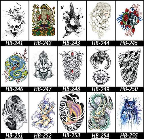 KAMRL Temporäre Tattoo-Aufkleber Tiger Temporary Tattoo - Realistische Übertragung Wasserdicht Mens Womens Kids Fancy 15X21Cm
