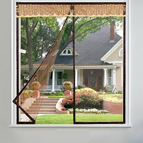 Velcro magnetische tür siebgewebe,Türen für häuser bildschirm Türen mit magneten bildschirm Der moskito Selbstklebend Unsichtbarkeit Gaze Vorhang Tür vorhang-D 200x180cm(79x71inch)