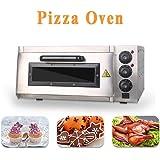 Four à Pizza Electrique 400 x 400mm, 2000W La température du four peut être réglée jusqu'à 350 °C - Interior Lighting