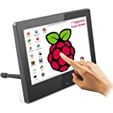 Tragbarer Raspberry Pi Monitor mit Touch Screen, ELECROW 7-Zoll HDMI Touchscreen Display mit Zwei Integrierten Lautsprechern und Einstellbarer Hintergrundbeleuchtung, für Raspberry Pi 4B 3B + /PC