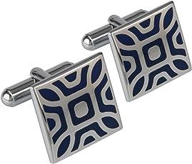 Shining Jewel Silver Cufflinks for Men