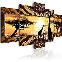 murando® Cuadro en Lienzo 200x100 cm! 5 partes - Grande Formato - Impresion en calidad fotografica - Cuadro en lienzo tejido-no tejido - Africa naturalezza c-A-0035-b-m 200x100 cm