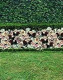 A.Monamour Land Der Grünen Wiese Garten Blumen Rosa Thema Landschaft Fotografie Kulissen 5x7Ft Hintergründe