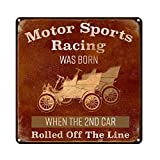 My Beer Cozy Vintage Retro der Garage Decor ~ Motor Sport Racing Geboren, Wenn die 2 Nd Auto Gerollt Off The Line ~ 30,5 x 30,5 cm 24-Gauge Stahl Schild ~ Geschenke-, Bar & Dekorationen ~ USA Made