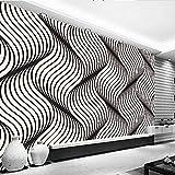 HONGYAUNZHANG Schwarz Und Weiß Abstrakte Streifen Benutzerdefinierte Fototapete 3D Stereoskopische Wandbild Wohnzimmer Schlafzimmer Sofa Hintergrund Wandbilder,230Cm (H) X 310Cm (W)