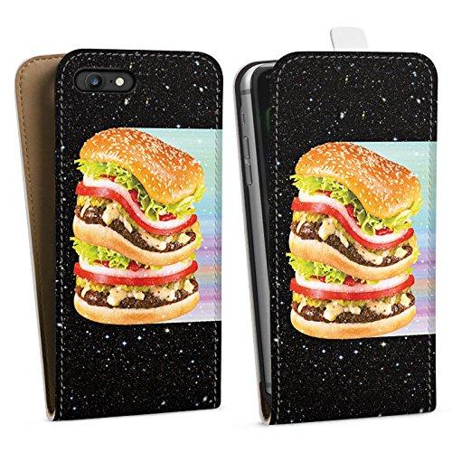 Apple iPhone X Silikon Hülle Case Schutzhülle Burger Fleisch Fast Food Downflip Tasche weiß
