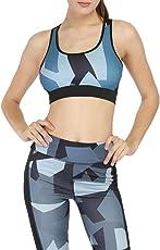 MOSE Sports Yoga Vest Cool Geometric Print Casual Vest Yoga Tank Running Sports Crop Tops