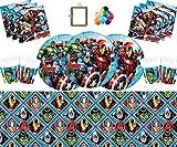 Marvel Avengers Assemblez Vaisselle Assiettes Assiettes Tasses Serviettes Nappe...