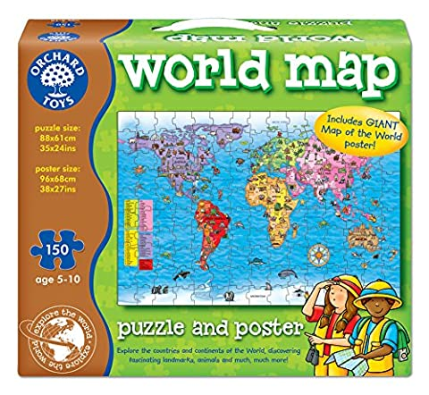 Orchard Toys World Map Puzzle and