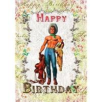 Happy Birthday Cowboy Greeting Card by Mimi