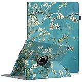 Fintie Hülle für iPad Pro 12.9-360 Grad Rotierend Stand Cover Case Schutzhülle Tasche mit Auto Schlaf/Wach Funktion für iPad Pro 12.9 2. Generation 2017/1. Generation 2015, Mandelblüten