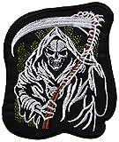 ecusson Punisher Noir Tete de Mort Skull Crane Moto Biker thermocollant 12x10cm patche Insigne