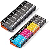 OfficeWorld Replacement for Canon PGI-525 CLI-526 Ink Cartridges Compatible for Canon Pixma MG5350 MG5250 MG6150 MG5150 MG5200 MG5300 MG5320 MG6220 MG6250 MG8150 MG8170 MG8220 MG8250 IP4950 IP4850 IX6550 IX6250 IP4800 MX715 MX882 MX885 MX895