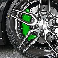 JOM 200004 Kit peinture d'étrier de frein, vert, 1 composante, peinture d'étrier de frein 75ml, nettoyant de freins 250ml, brosse et gants