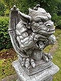 Gartenfigur Gargoyle Figur Steinfigur für Garten Deko Teich Fantasiefigur Steinfiguren ohne Sockel