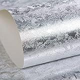 Goldene Silberne Reine Silberne Folien-Tapete KTV Stab-Restaurant-Decken-Decke Reflektierende Goldfolien-Tapete 10m,Silver