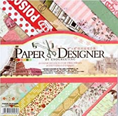 Pattern Design Printed Papers for Art n Craft, Size: 8x 8 Inch, Set of 40