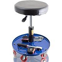 Bituxx® Werkstatthocker Drehhocker Rollhocker Hocker Drehstuhl Sitz Werkstatt Werstattstuhl Stufenlos höhenverstellbar…