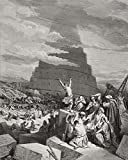 Ken Welsh / Design Pics – Engraving From The Dore Bible Illustrating Genesis Xi 7 To 9 The Confusion Of Tongues By Gustave Dore 1832-1883 French Artist And Illustrator Photo Print (66,04 x 86,36 cm)