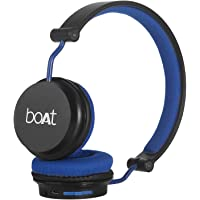 boAt Rockerz 400 Bluetooth Headphone with Super Extra Bass, Up to 8H Playtime, Dual Connectivity Modes, Foldable Earcups and Lightweight Design (Black/Blue)