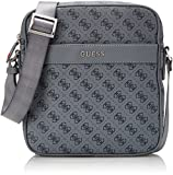 Guess Hm6213pol74, Men's Top-Handle Bag, Grigio, 4.5x23.5x22 cm (W x H L)