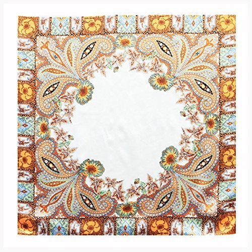 Die Ebene Halstuch weiche Haut Seide Seidenschal Seidenschal_Picasso weiße Taste Kompass, Antique beige, 90 * 90 cm Cashewnüsse