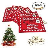 Weihnachtskarten, Weihnachtspostkarten, Weihnachtskalender, Weihnachtsumschlag, Christbaumschmuck für Weihnachtsbäume, Weihnachten, Geschenktüten, Adventskalender, Geschenke verpacke, 6pcs