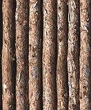 Blooming Wand Rost Baumstämme Login Holz Kabine Wand Wandbild Tapete in Bad Küche Wohnzimmer Schlafzimmer, 57quadratisch FT/Rolle, 2203