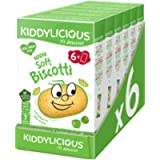 Kiddylicious Apple Biscotti | Yummy Baked Snacks for Kids | Suitable for 7+ Months | 6 Packs of 6 (36 Total)