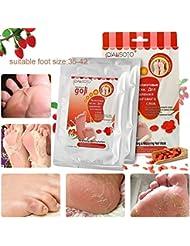 Fußmaske, LuckyFine Wolfberry Füße Film 2 Paar Weiße Haut Füße Maske Entfernen Tote Haut Peeling Maske