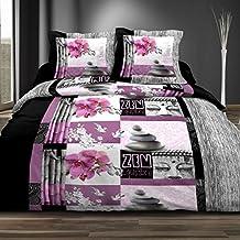 housse de couette zen. Black Bedroom Furniture Sets. Home Design Ideas