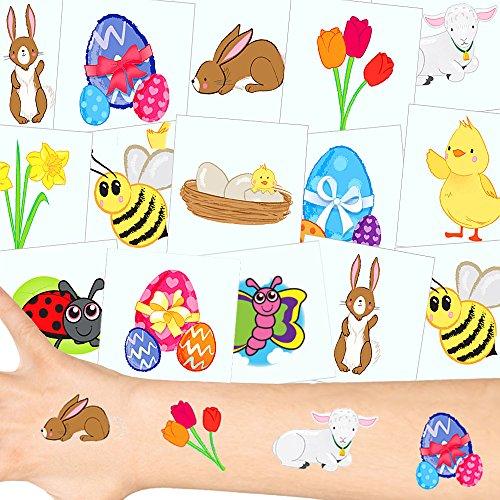 - Oster Tattoos Set ┃ NEU ┃ Oster Party ┃ Kindergeburtstag ┃ Mitgebsel ┃36 Tattoos (Schokolade-ei-spiele)