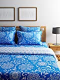 Turu Cotton 5 Piece Bedding and Quilt Set 1 Comforter + 2 Cushion Covers + 2 Pillow Covers (Ming)