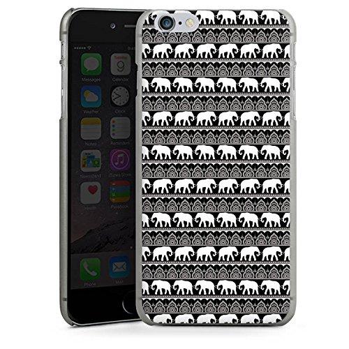 Apple iPhone X Silikon Hülle Case Schutzhülle Elefant Henna Mandala Hard Case anthrazit-klar