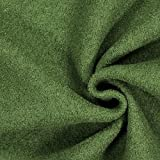 Walkloden grün — Meterware ab 0,5 m — zum Nähen von