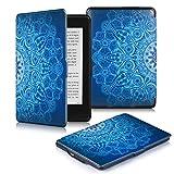 DHZ Kindle Paperwhite Hülle - Slim Schutzhülle Smart Cover Case mit Auto Sleep / Wake Funktion für Alle Kindle Paperwhite (2016,2015,2014,2013 Modelle mit 6 Zoll Display),Palast blumenmuster