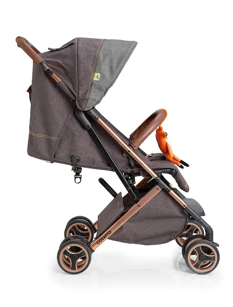 Cosatto Woosh XL Pushchair, Suitable from Birth to 25 kg, Mister Fox Cosatto Compact from-birth pushchair. carries up to 25kg child, so you can use it for longer. Hands full? it's lightweight with one-hand fold into compact bundle. easy to store. It can even carry dock 0+ car seat (sold sep) just pop onto the adaptors (sold sep). 4