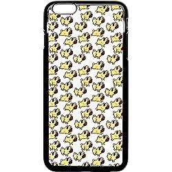 iPhone 6Plus teléfono móvil Pug patrón de amor de perro Pug life Funky