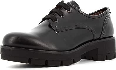 NeroGiardini I014250D Prince Nero Sneakers Donna in Pelle abrasivata Tacco Medio