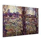 Bilderdepot24 Kunstdruck - Alte Meister - Vincent Van Gogh - Blick auf Arles - 120x80cm dreiteilig - Leinwandbilder - Bilder als Leinwanddruck - Bild auf Leinwand - Wandbild
