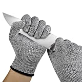 Lemish 1 Pair Cut Resistant Gloves Food Grade Level 5 Protection Working Cutting