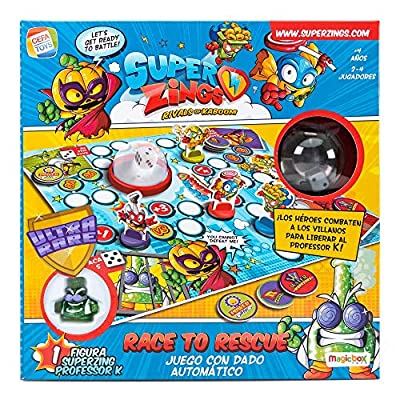 SuperZings- Professor K Juego de Mesa - Race to Rescue-Castellano (CEF21651), (Cefa Toys 21651) de Cefa Toys