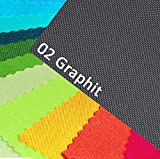 OXFORD 600D Farbe 02| GRAPHIT Polyester Stoff 1 lfm OUTDOOR