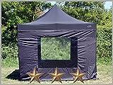 Faltzelt Faltpavillon 3x3m 3x3m Schwarz mit 4 Seitenteilen Partyzelt Pavillon Verkaufszelt wasserdicht