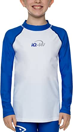 iQ-UV Unisex Kinder Uv Kleidung 300 Shirt Youngster Wave Long Sleeve Uv Shirt